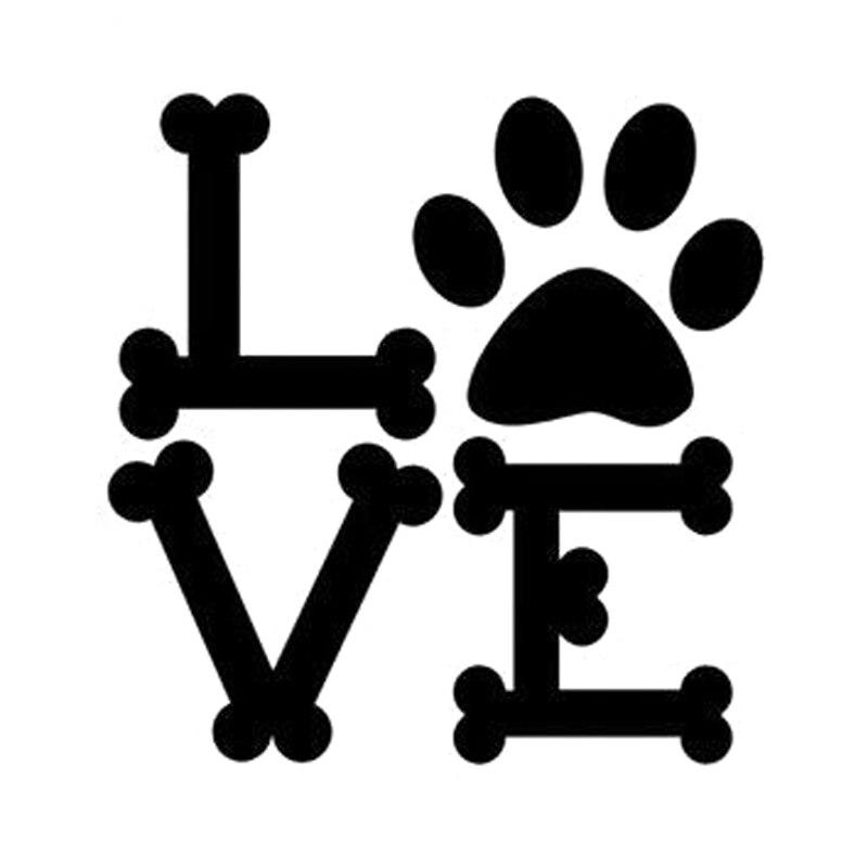 Download 9.7cm*10cm Dog Bones Love Paw Print Car Sticker Motorcycle ...