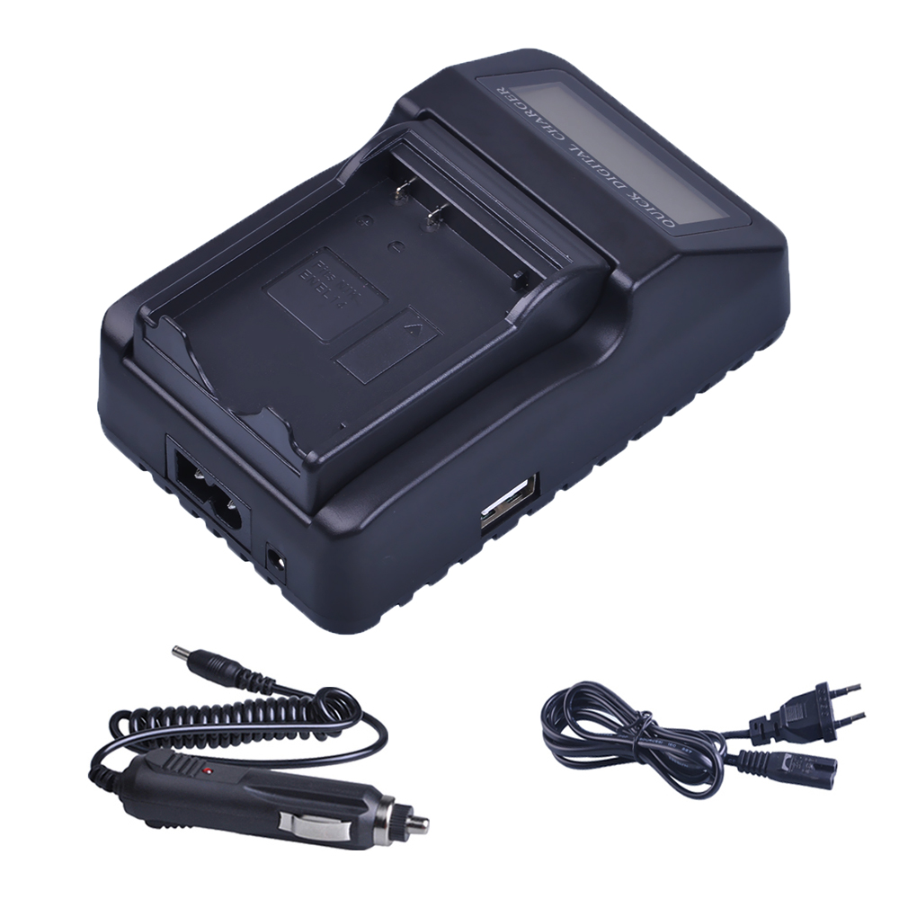 LCD Quick Battery Charger (3X faster)for Nikon EN-EL14 EN EL14 EL14a P7000 P7100 P7700 P7800 D3100 D3200 D3300 D5100 D5200 D5300 ...