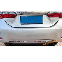 For Toyota Corolla Altis 2017 2018 2019 Car body cover protection bumper ABS chrome trim rear back tail bottom hoods panel 1pcs