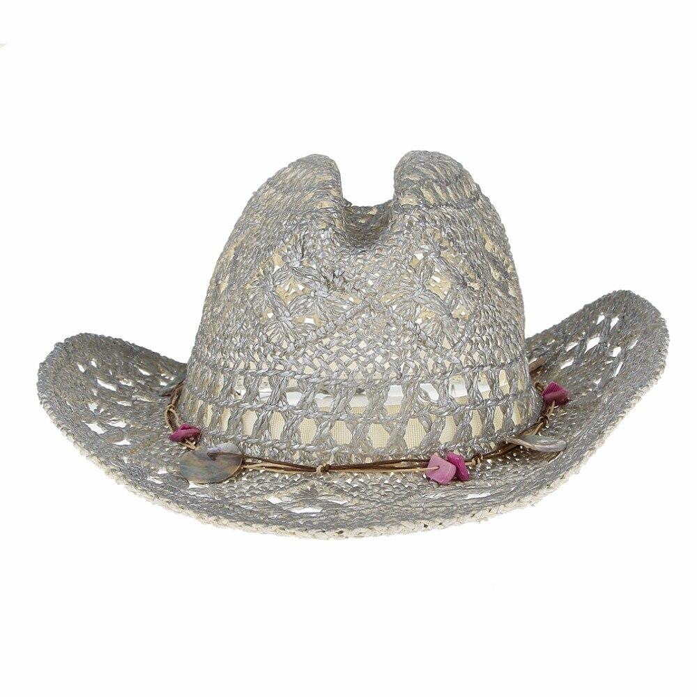 Nueva moda de plata de Color sombreros de playa para las mujeres  lentejuelas sombreros de paja Hollow Out Sun Chapeu Panamá señoras verano  sombrero en ... 98d606afc27