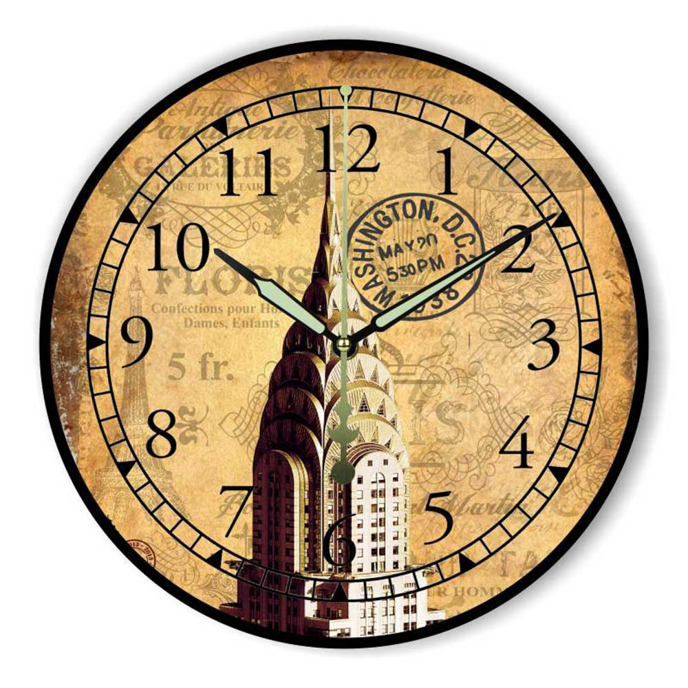 Vintage Home Decor Wall Clock More Silent Warranty 3 Years ...