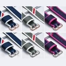 neway 14mm 18mm 20mm Men Women Nylon dw Wrist Watch Band Watchband Silver Clasp Buckle For daniel wellington Strap 40mm 36mm стоимость