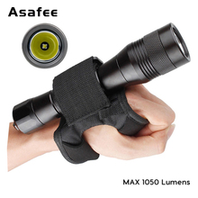 Asafee DIV01 Diving Torch CREE XM-L2(U4) LED Rechargeable Diving Flashlight Underwater LED Scuba Diving Flashlight+Wrist Strap