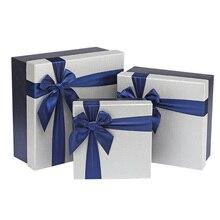 1 Набор, модная Подарочная коробка и сумка, квадратная, на день рождения, тонкая, труба, бумажная коробка, деловая упаковка, ужин, бант, вечерние, на День отца