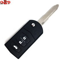 HKOBDII New 3 Buttons 433mhz 4D63 chip For Mazda Wings Rui Flip Remote Key