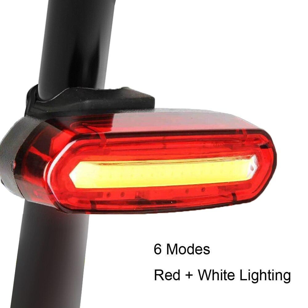 Bike Rücklicht 5 Farbe Licht USB Aufladbare Wasserdichte MTB Rennrad Schwanz Led-leuchten Zurück Lampe Fahrrad Zubehör Für Fahrrad