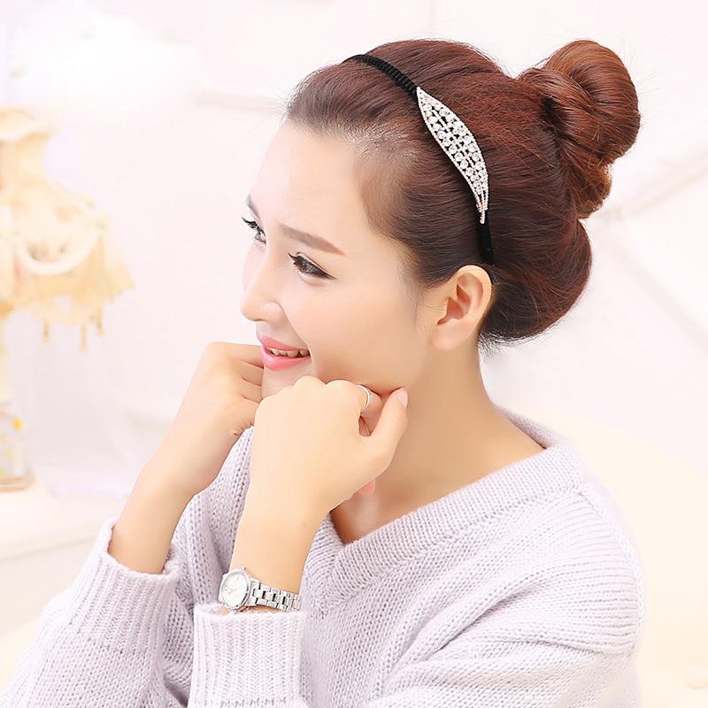 Butterfly Rhinestone Knot Hair Accessories Korea Crystal Sweet and Cute Hairband Non-slip Elegant Women Girl Hairwear Headband