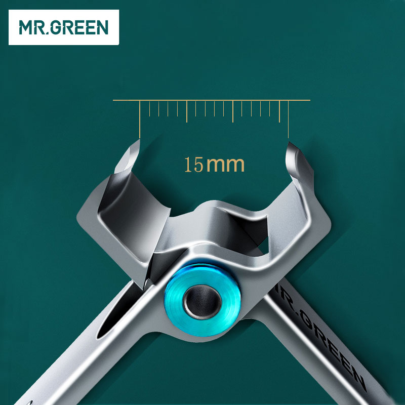 MR GREEN Nail clipper Trimmer Stainless Steel Nail tools manicure Thick scissors with glass nail file
