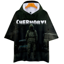 Camisetas con estampado de Chernóbil 3d Harajuku Verano de manga corta con capucha camisetas de TV Show Hip Hop Streetwear camisetas gráficas hombres mujeres