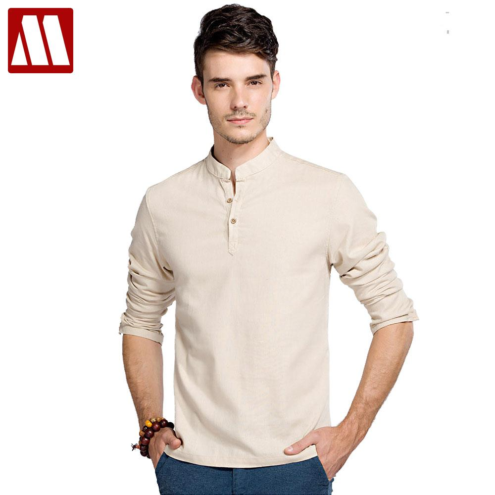 Casual Retro Shirts Men Cotton Linen Designer Brand Loose Fit Man ...