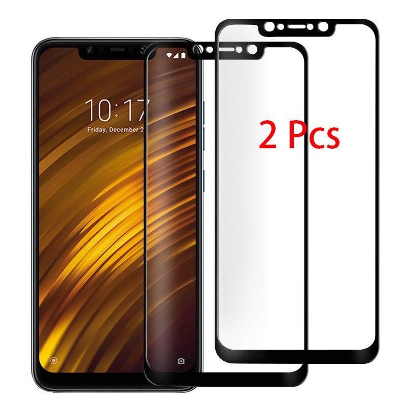 2 шт. 9H закаленное стекло для Xiaomi Pocophone F1 F2Pro защита для экрана Защитное стекло для Xiaomi Little F1 полное покрытие