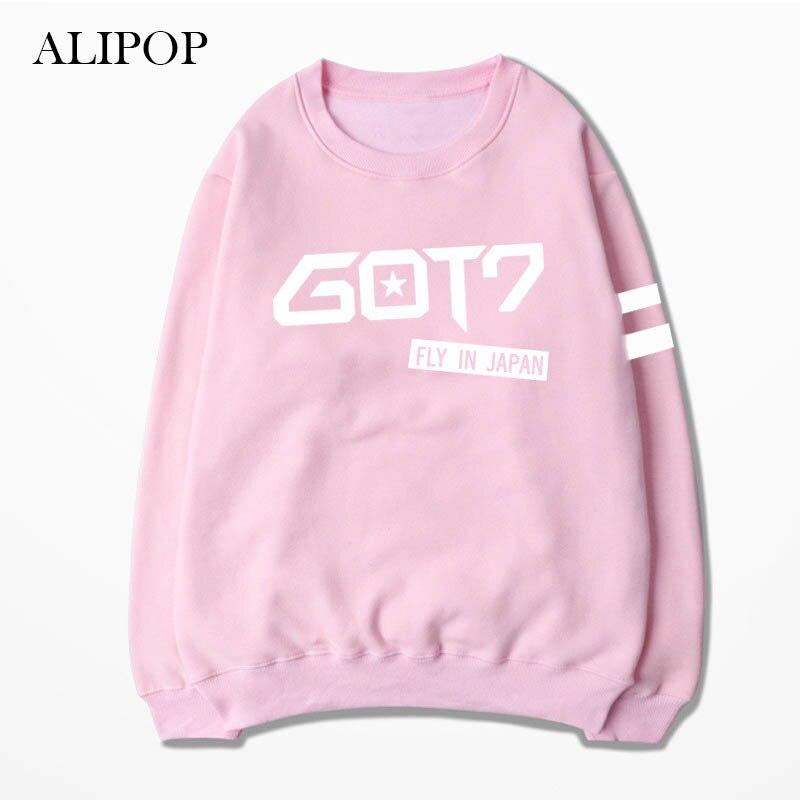 ALIPOP KPOP GOT7 FLY IN JAPAN Album Hoodie K-POP Casual Cotton Hoodies Clothes Pullover Printed Long Sleeve Sweatshirts WY245