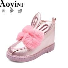 Классические женские ботинки удобные теплые австралийские ботинки из искусственного меха с заячьими ушками и блестками Модные женские зимние Ботинки Зимняя обувь