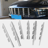 Stainless Steel Front Grille Trim Strips 6pcs For Porsche Macan 2014 2015 2016 2017 Car Styling Bumper Decoration Decals