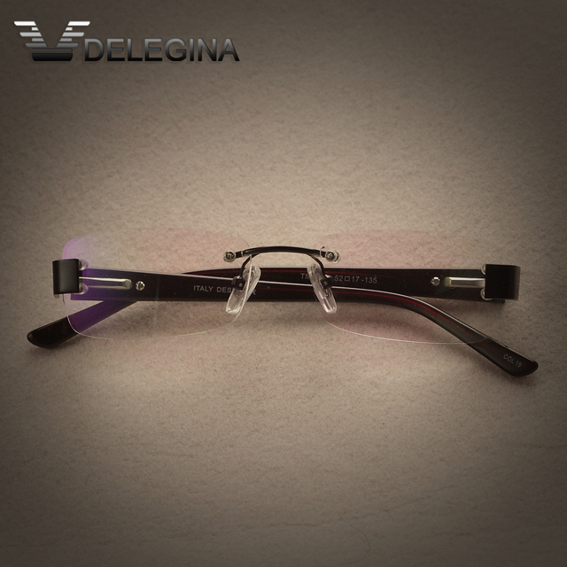 Без оправы Супер очки рамка Оправы Оптические Очки близорукость Рецепту Чтения Бескаркасных