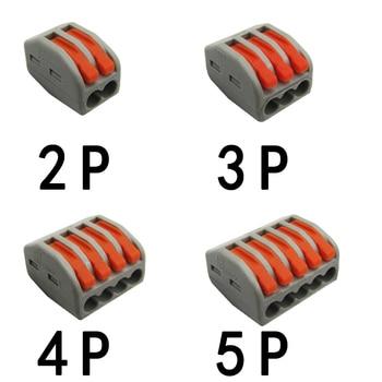 2/10/20 Uds. Empalme de cableado compacto PCT-222 212/213/215 bloque de conectores Universal divisor de cable SPL-2/SPL-3 2