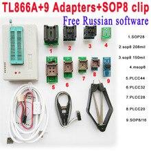 Tl866a программер + 9 адаптеры + IC зажим высокоскоростной TL866 AVR PIC Bios 51 MCU Flash EPROM программер русский английский руководство