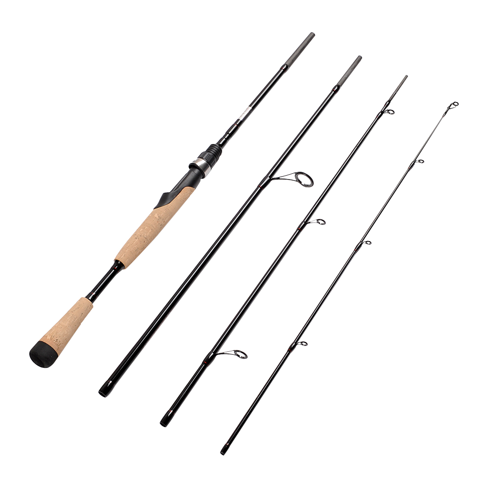 Fiblink <font><b>4</b></font> Pieces Travel Spinning <font><b>Rod</b></font> Medium Graphite Spinning Fishing <font><b>Rod</b></font> Portable Fishing <font><b>Rod</b></font>