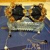 2016 Fashion Design Glasses Eyewears Baroque Luxury Retro Handmade Metal Butterfly Flower Pearl Women Vintage Sytle