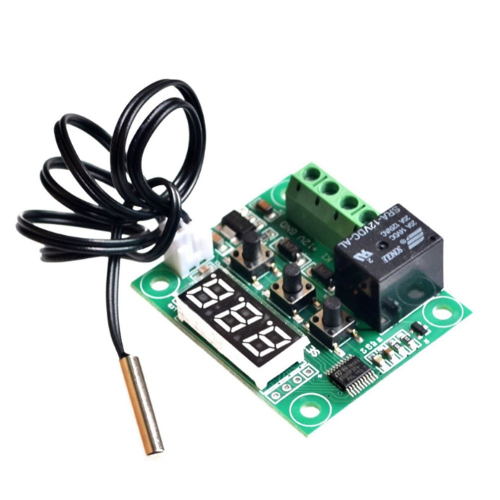 Modules W1209 Digital LED DC 12V Heat Cool Temp Thermostat Temperature Control Switch Module On/Off Controller Board+NTC Sensor ac 250v 20a normal close 60c temperature control switch bimetal thermostat