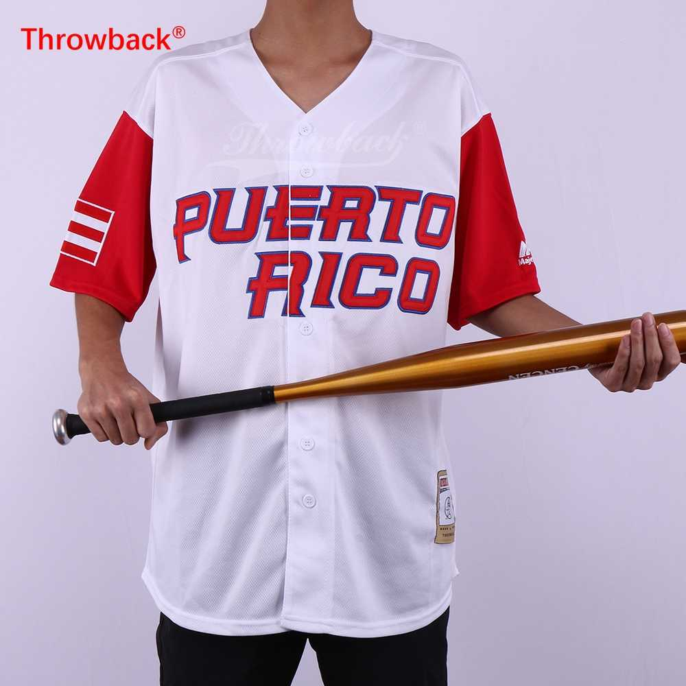 100% authentic e60e7 6c8f0 Throwback Jersey Men's Puerto Rico Movie Baseball Jerseys Customized Jersey  Any Number Name Size S-3XL Free Shipping Cheap