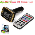 2016 Kit de Coche Reproductor de MP3 Transmisor Inalámbrico de FM Modulador USB SD TF MMC LCD Remoto Oct 18 7 *
