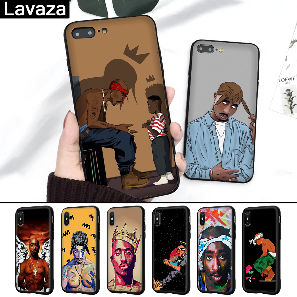 Lavaza 2Pac Tupac Shakur Super Deal Silicone Case for iPhone 5 5S 6 6S 7 8 11 Pro Plus X XR XS Max image