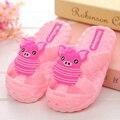 Детские летние тапочки девочки и мальчики ванная комната тапочки мягкое дно мультфильм нескользящие тапочки розовый голубой