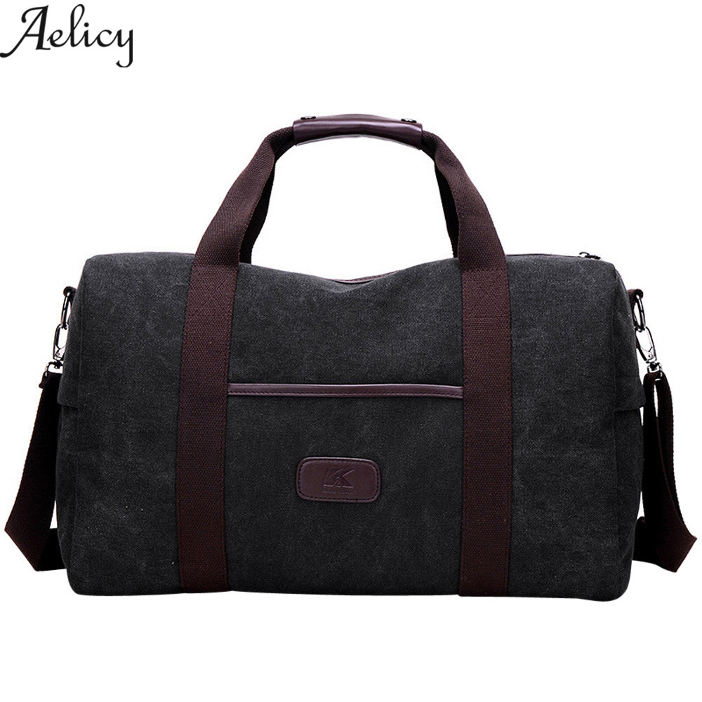 Aelicy Large capacity canvas retro men bag canvas shoulder bags men's bags handbag shoulder 2018 new design men messenger bags
