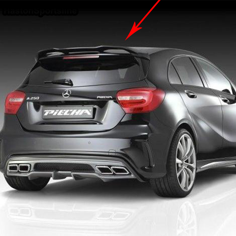 W176 A250 A260 A45 AMG Modified PIECHA Style Fiberglass Unpainted Primer Rear Roof Spoiler Car Wing For Mercedes-Benz 2013~2017 pu rear wing spoiler for audi 2010 2011 2012 auto car boot lip wing spoiler unpainted grey primer