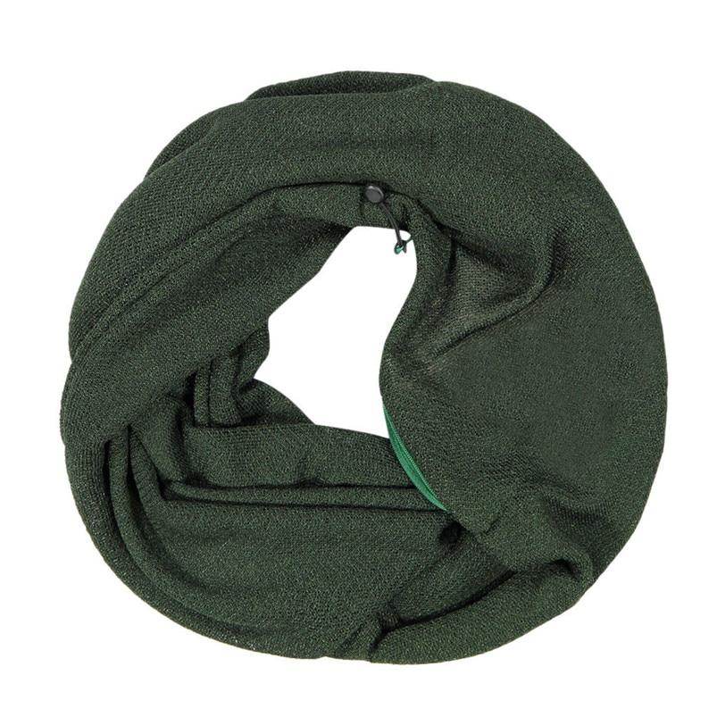Unisex Winter Solid Wool Warm Loop Scarf Zippered Secret Pocket Shawl Ring Women Printing Scarf Bufanda de las mujeres R29 (13)