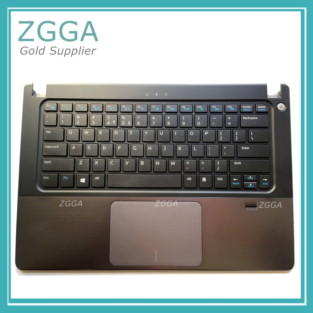Genuine NEW Upper Case Palmrest Laptop Shell Keyboard Bezel Cover For Dell Vostro V5460 5460 5470 With Touchpad Fingerprint 56M9 the new for dell vostro 5460 v5460 5470 p41g aejw8 laptop keyboard
