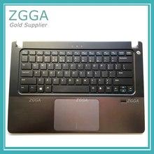 Genuine NEW Upper Case Palmrest Laptop Shell font b Keyboard b font Bezel Cover For Dell