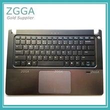 Genuine NEW Upper Case Palmrest Laptop Shell Keyboard Bezel Cover For Dell Vostro V5460 5460 5470 With Touchpad Fingerprint 56M9