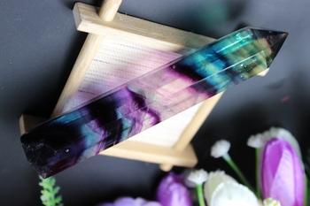 1 sztuk naturalny zielony fluoryt na kwarcu kryształowe pręty tanie i dobre opinie Kryształ gleby