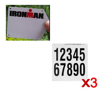 SILVEROCK Custom Bike Racing Anzahl Platte Aufkleber Abziehbilder Rennrad Triathlon Ironman Fahrrad Platte