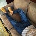 Envmenst marca designer de moda homens calças de brim Ocasionais dos homens da Primavera denim calças Slim Reta Regular fit Elastic jeans Novos