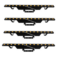 4pcs 14 leds pixel beam bar gold led color 14CH DMX stage lighting powercon in/out
