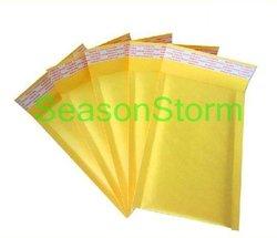 10 pçs/lote Bolha Mailers Envelopes Acolchoados Tamanho Pequeno Papel Kraft Saco Envelope Bolha de Ar Cor Amarela