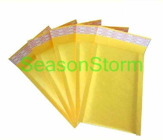 10 pcs/lot Gelembung Mailer Padded Amplop Ukuran Kecil Kraft Paper Air Bubble Envelope Bag Warna Kuning