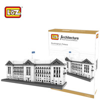 LOZ Buckingham Palace Model Building Blocks Toys Plastic 3D Building Blocks Diamond Famous Architecture Series 9374 14+