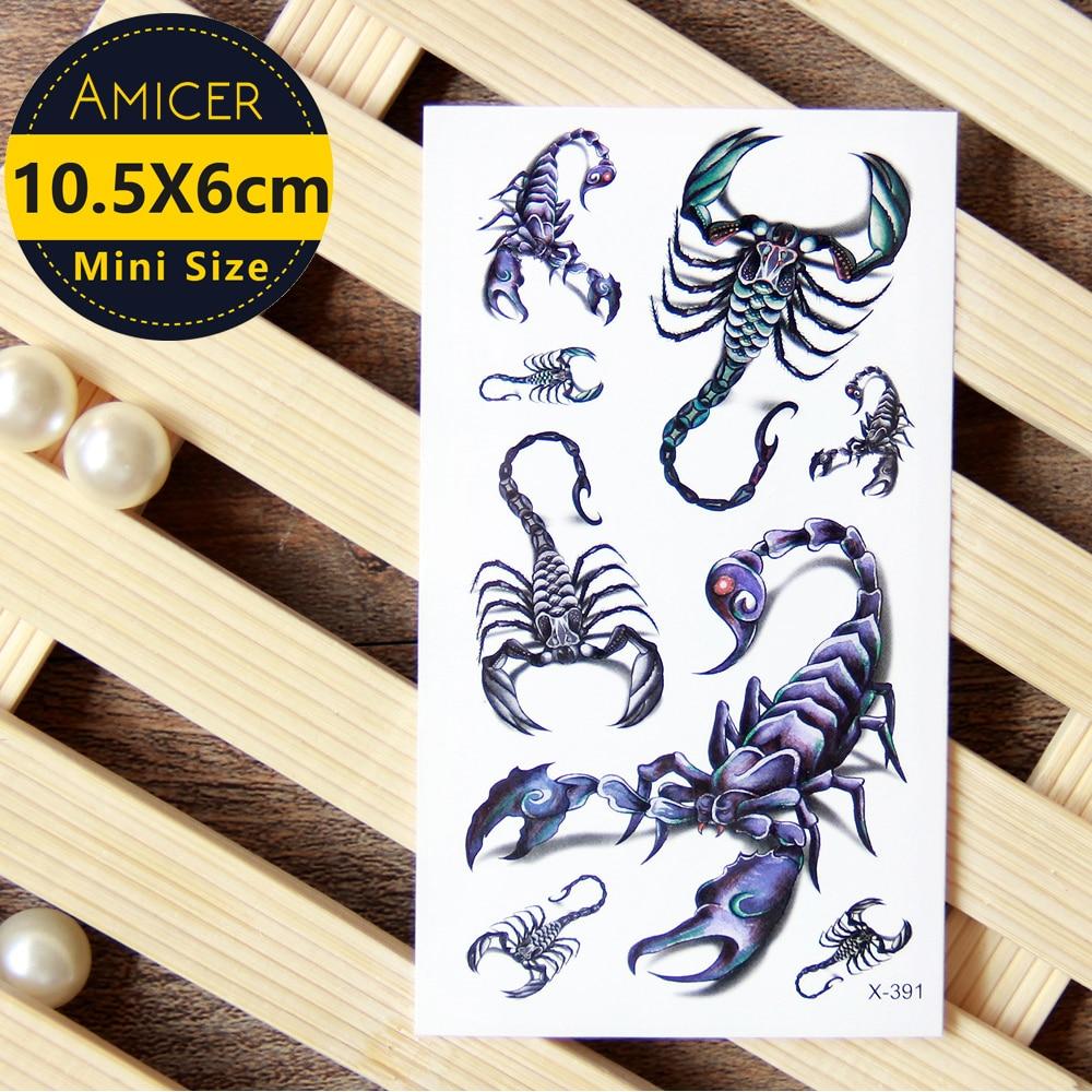 Waterproof temporary tattoo sticker 3d scorpions tattoo for How to use temporary tattoos