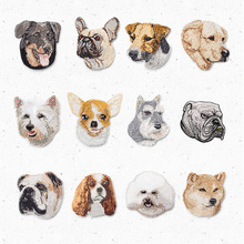 Cartoon Animal Pet Dog Iron on Patches for Clothes Accessories Embroidery Patch DIY Sewing Fabric Stickers for Jeans Bag Shoes