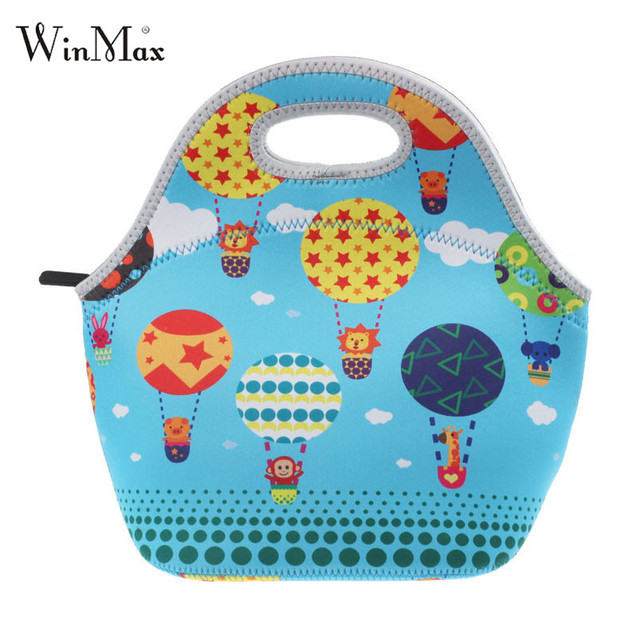 Winmax Factory outlet Waterproof Warm Heat Insulation Neoprene Lunch Bag Food Container Thicken kids Baby Thermal Lunch Hand Bag