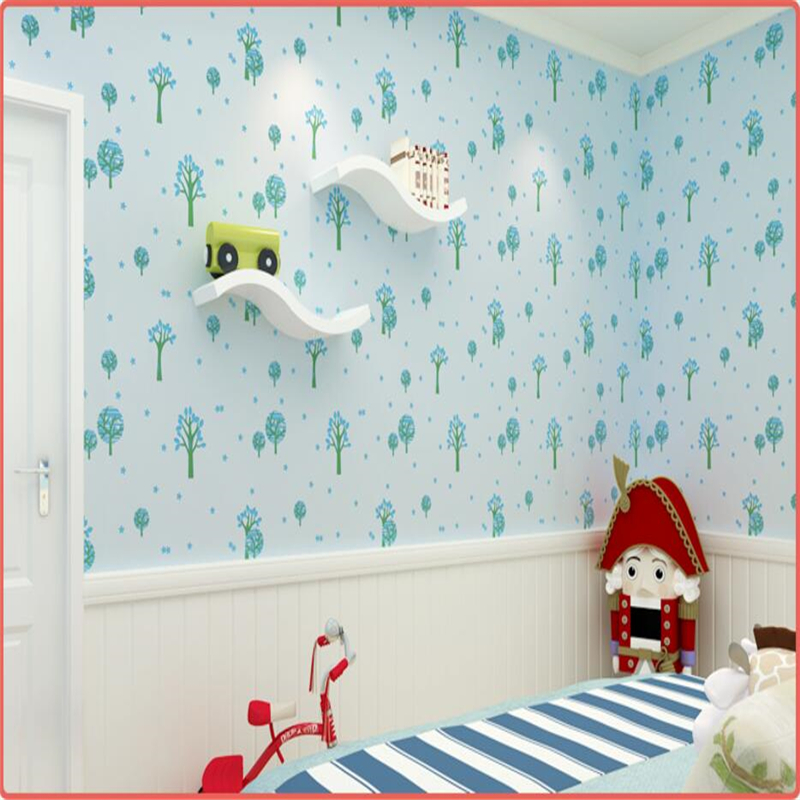 beibehang Warm pink children's room wallpaper girl bedroom non-woven green wallpaper 3D cute little wallpaper wallpaper cartoon beibehang environmental non woven boy girl warm cartoon children s room blue sky clouds balloon wallpaper