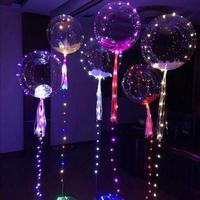 10 PCS 18 Inch Transparent LED Flash Light Balloons Beautiful Latex Balloon For Birthday Wedding Christmas