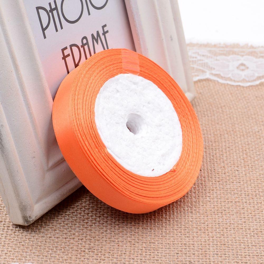 Ткань 10 мм 25 ярдов Белый Шелковый Атласный органза полиэстер лента для шитья Свадебная вечеринка украшение тесьма для рукоделия Подарочный упаковочный пояс - Цвет: 28