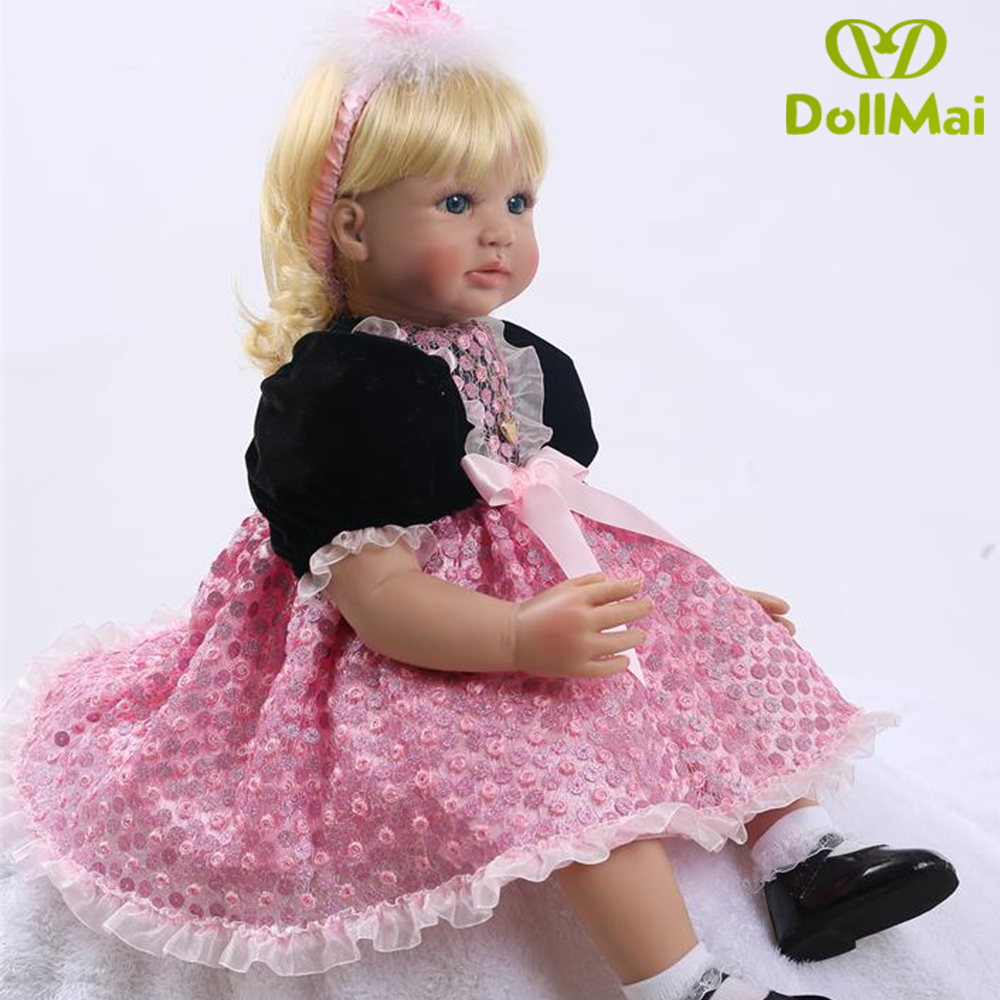 2018 New Silicone Reborn Baby Dolls In Pink About 24 Inch Lovely Doll Reborn For Baby Gift Bonecas Bebes Reborn Brinquedos 2018 New Silicone Reborn Baby Dolls In Pink About 24 Inch Lovely Doll Reborn For Baby Gift Bonecas Bebes Reborn Brinquedos