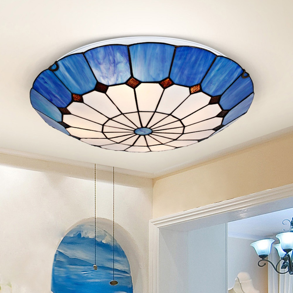 New Brief Mediterranean Design Ceiling Lamp Natural