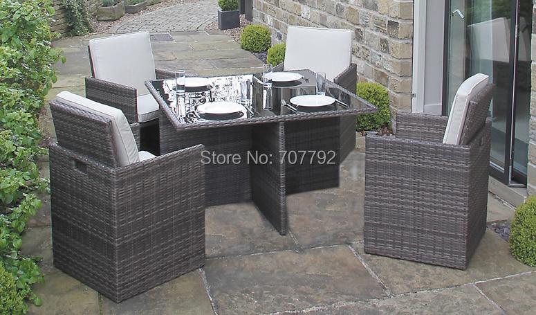 new4 seater rattan dining garden furniture set